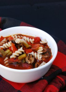 gluten free slow cooker pizza soup