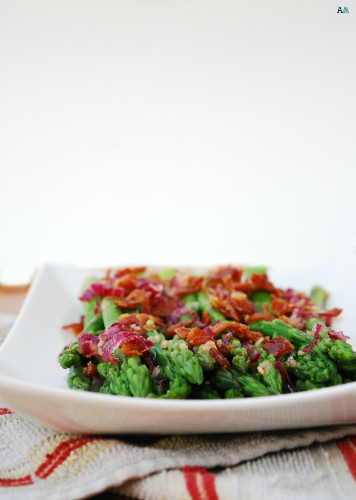 dairy-free asparagus with bacon