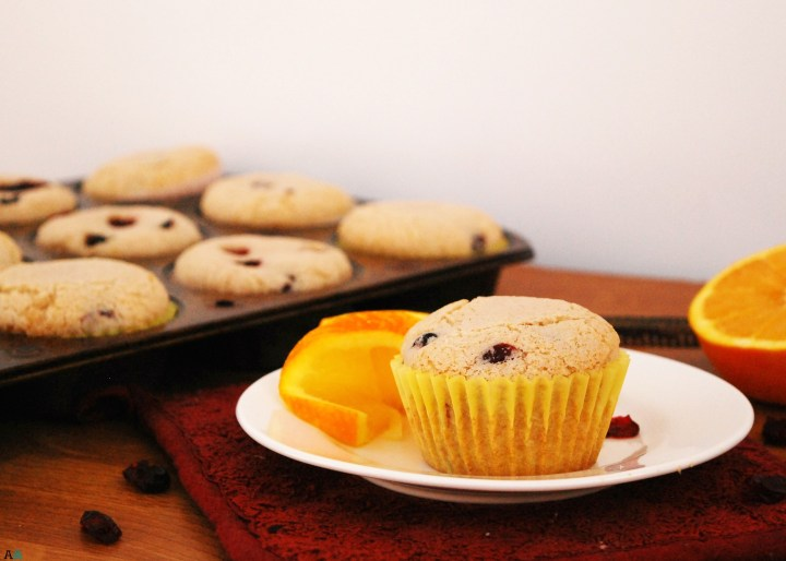 Cranberry Orange Muffins (GF, DF, Egg, Peanut/Tree nut, Soy Free, Vegan, Top 8 Free)--from Allergy Awesomeness