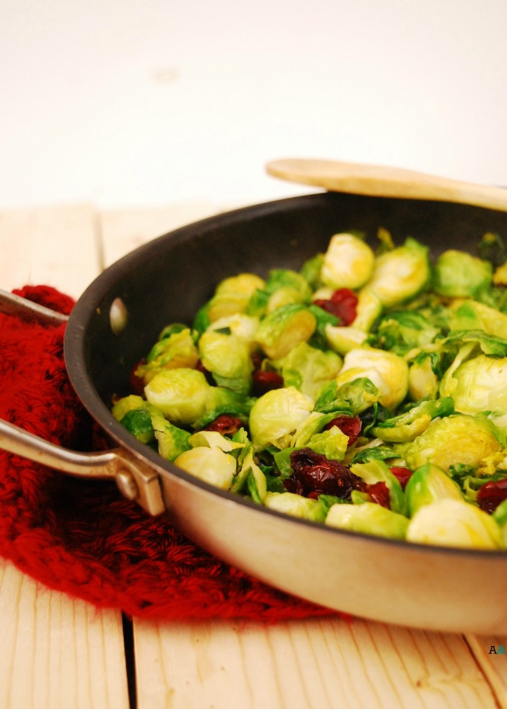 Brown Sugar Brussels Sprouts with Craisins (GF, DF, Egg, Soy, Peanut/Tree nut Free, Top 8 Free, Vegan) by Allergy Awesomeness