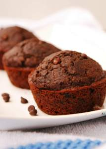 Double Chocolate Muffins (GF, DF, Egg, Soy, Peanut/Tree nut Free, Top 8 Free, Vegan) copyrighted by Allergy Awesomeness