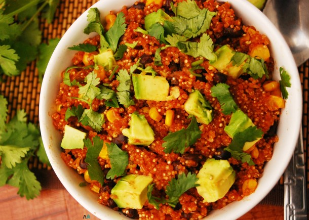 30 Minute Enchilada Quinoa Bowl (GF, DF, Top 8 Free, Vegan Option) by Allergy Awesomeness