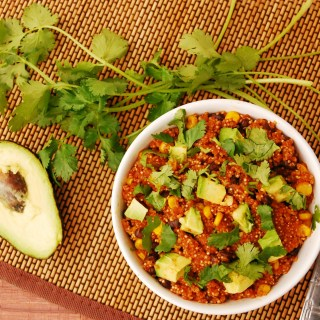 30 Minute Enchilada Quinoa Bowl (GF, DF, Top 8 Free, Vegan Option) copyrighted by Allergy Awesomeness