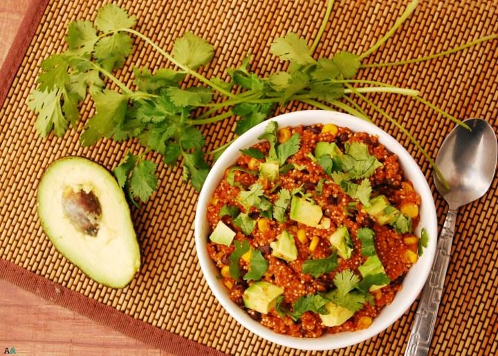 30 Minute Enchilada Quinoa Bowl (GF, DF, Top 8 Free, Vegan Option) by Allergy Awesomeness