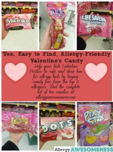 food allergy friendly candies for Valentines Day by Allergy Awesomeness