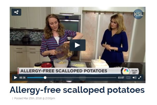 scalloped potatoes featured on TV