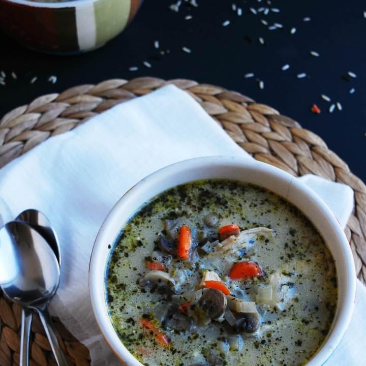 Chicken, Mushroom & Wild Rice Soup (GF, DF, Egg, Peanut/Tree nut Free)