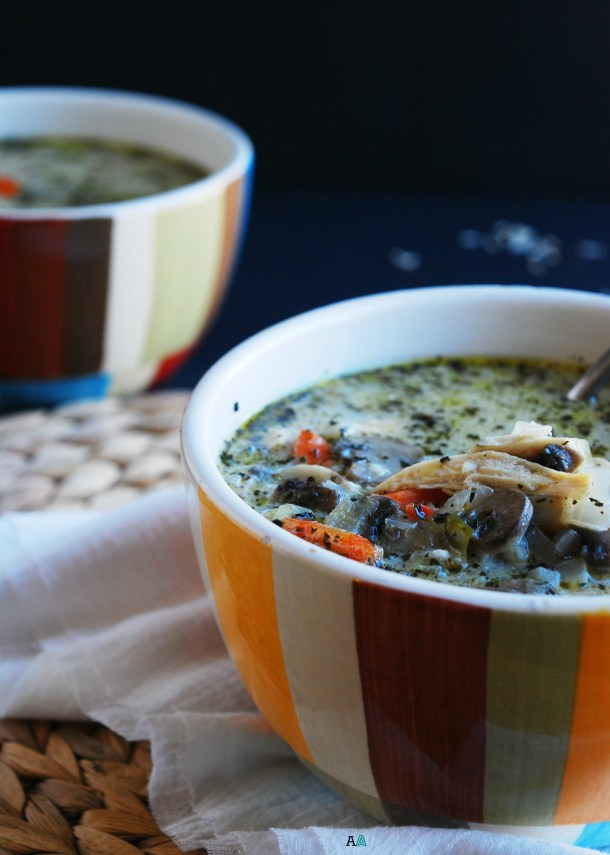 Chicken, Mushroom & Wild Rice Soup (GF, DF, Egg, Peanut/Tree nut Free) Recipe by Allergy Awesomeness