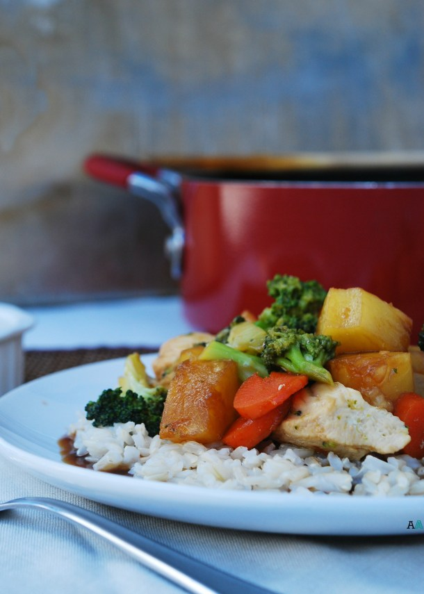 Teriyaki Chicken & Veggie Stir Fry (GF, DF, Egg, Soy, Peanut/Tree nut Free, Vegan Option) Recipe by Allergy Awesomeness