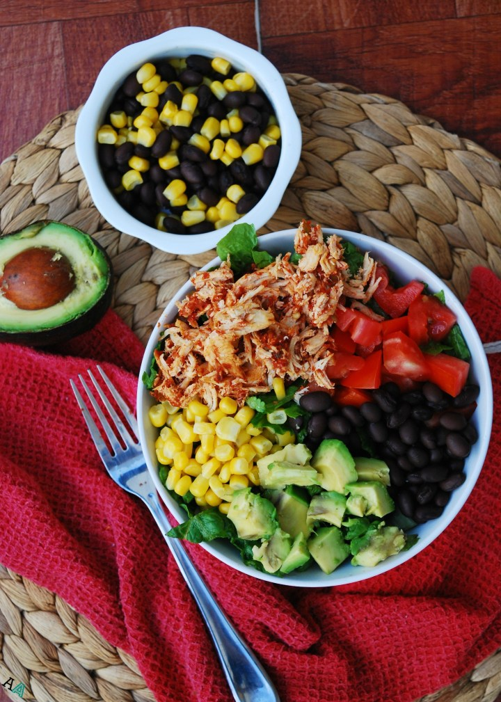 Slow Cooker Salsa Chicken Salads (GF, DF, Egg, Soy, Peanut, Tree nut Free, Top 8 Free) by Allergy Awesomeness