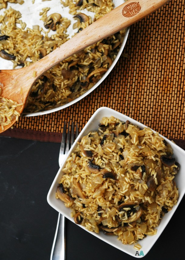 Baked Mushroom Rice (GF, DF, Egg, Soy, Peanut, Tree nut Free, Top 8 Free) Recipe by Allergy Awesomeness