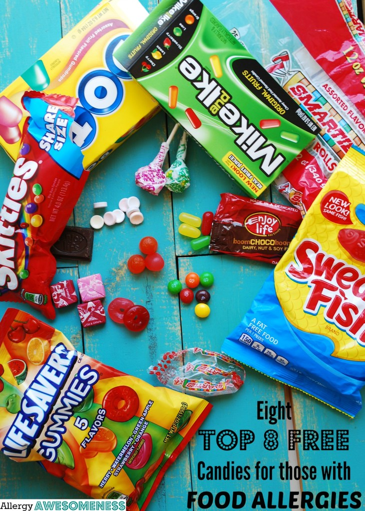 Eight Top-8 Free Candies, Safe Candy for Food Allergies for AllergyAwareness.com