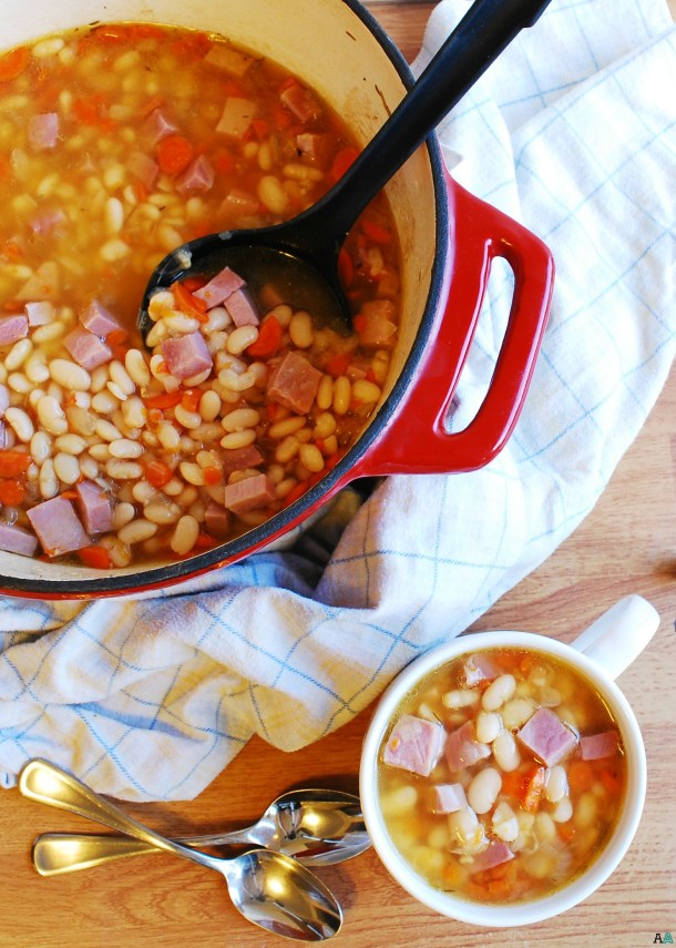Ham & Bean Soup (Gluten, dairy, egg, soy, peanut & tree nut free; top 8 free) Dinner recipe by AllergyAwesomeness.com