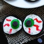 Allergy-friendly Monster Eye Balls (Gluten, dairy, egg, peanut & tree nut free; vegan) Halloween treat recipe by AllergyAwesomeness.com