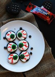Allergy-friendly Monster Eye Balls (Gluten, dairy, egg, peanut & tree nut free; vegan) Halloween treat recipe by AllergyAwesomeness.com