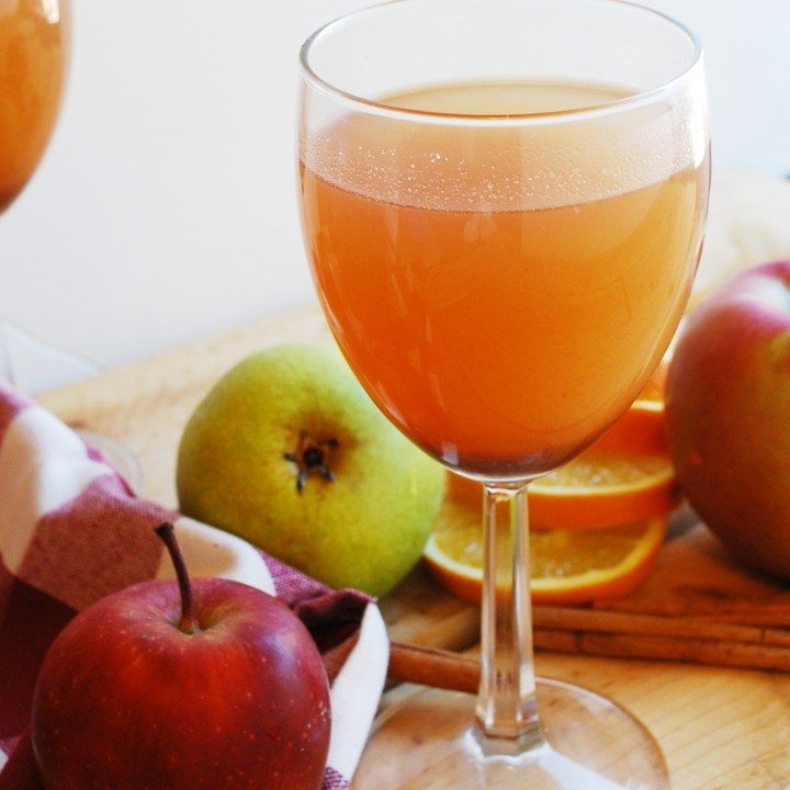Slow Cooker Apple Pear Cider (Gluten, dairy, egg, soy, peanut & tree nut free; top 8 free; vegan)