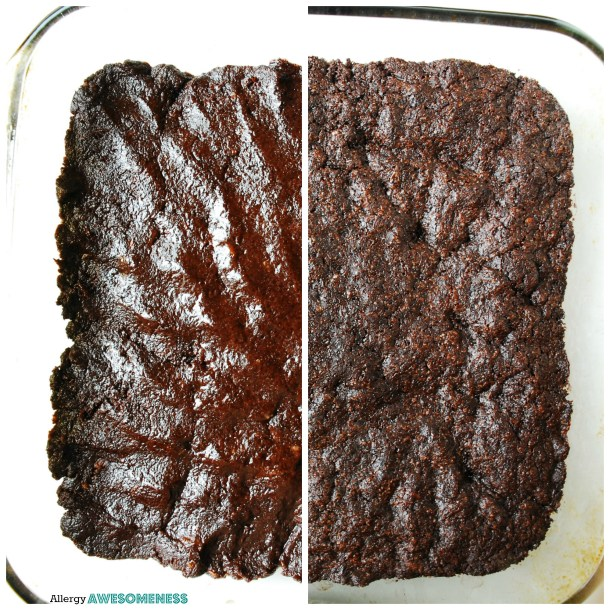 Gluten-free egg-free brownies. Dessert recipe by AllergyAwesomeness.com