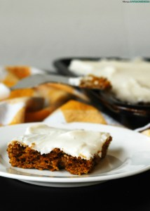 Allergy-friendly carrot sheet cake. Dessert recipe by AllergyAwesomeness