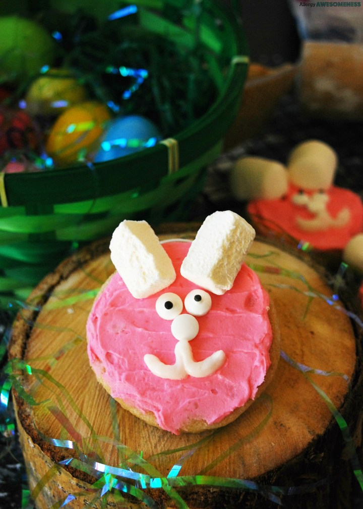 Allergy-friendly Easter Bunny Sugar Cookies by AllergyAwesomeness