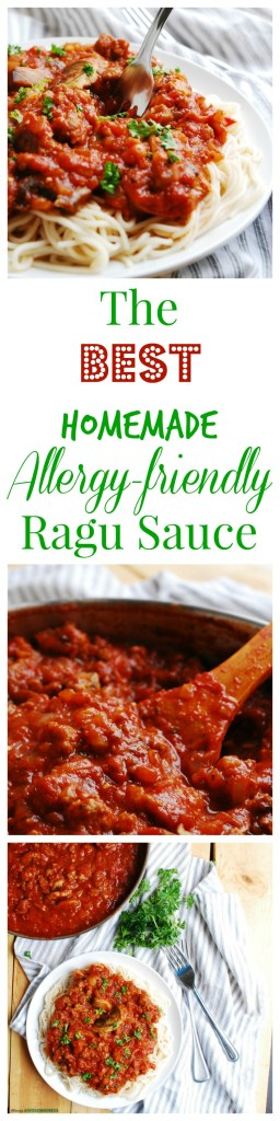 Homemade Allergy-friendly Ragu Sauce Recipe by Allergy Awesomeness