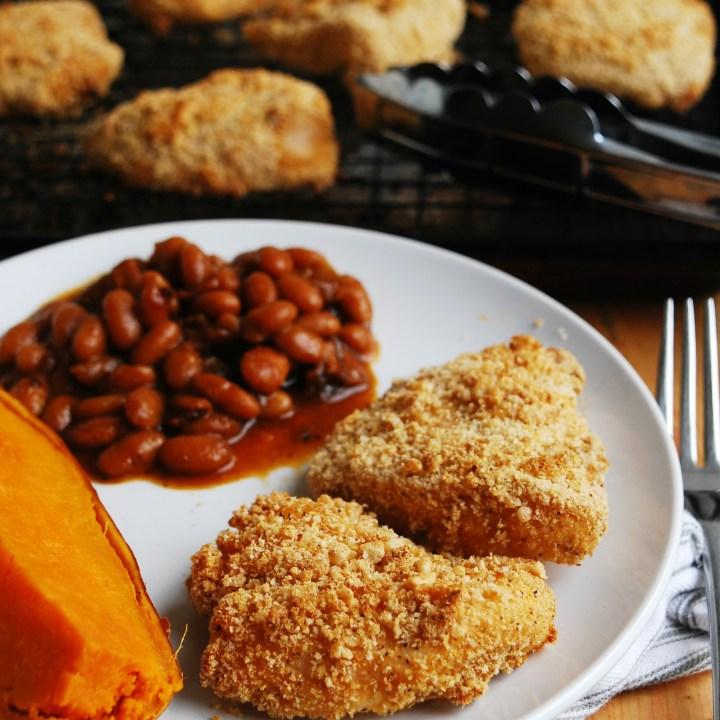 Oprah's Unfried Chicken--Made Allergy-friendly! (Gluten, dairy, egg, soy, peanut & tree nut free; top-8-free)