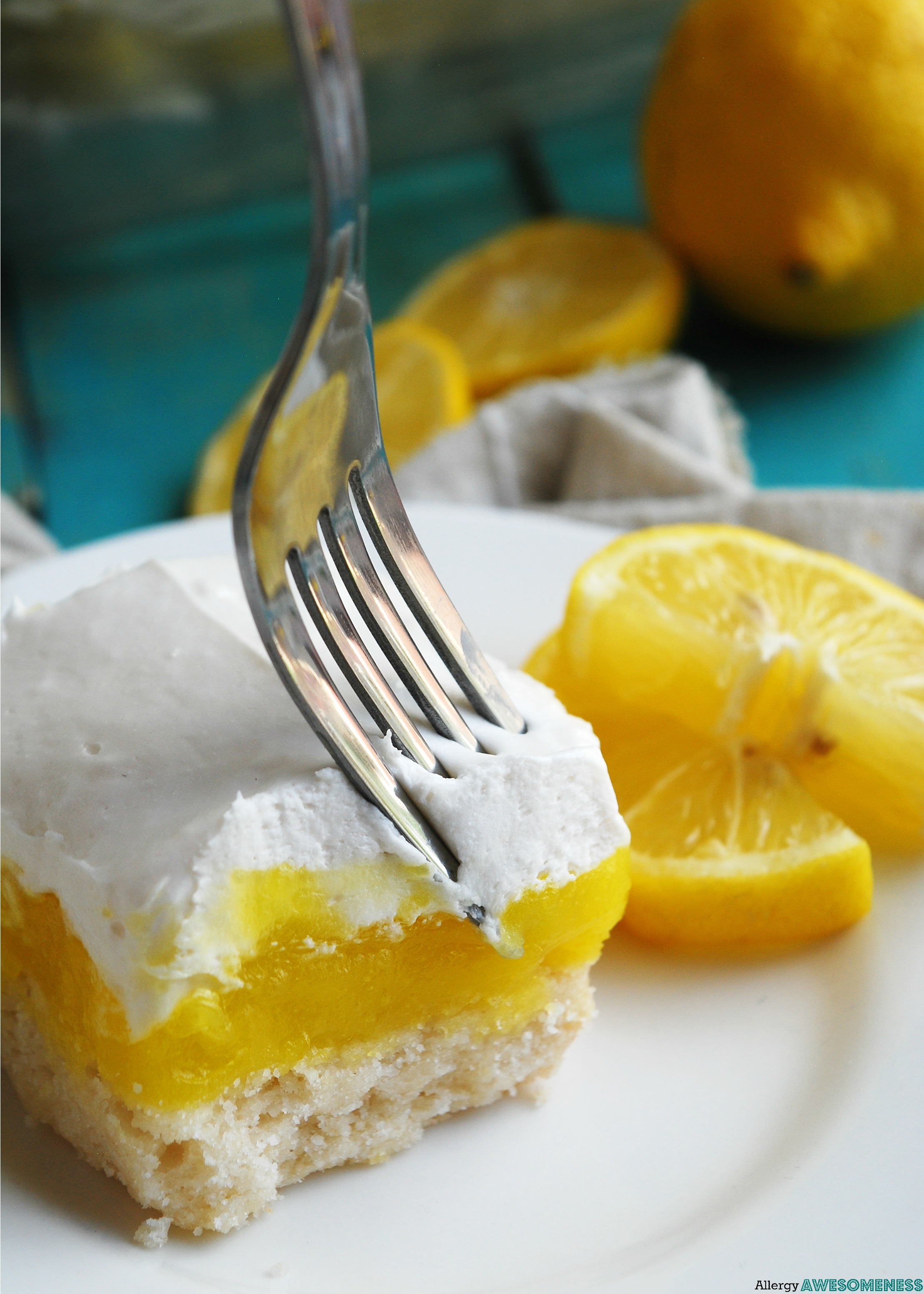 Glutenfree Vegan Lemon Cream Pie Bars Gluten dairy egg