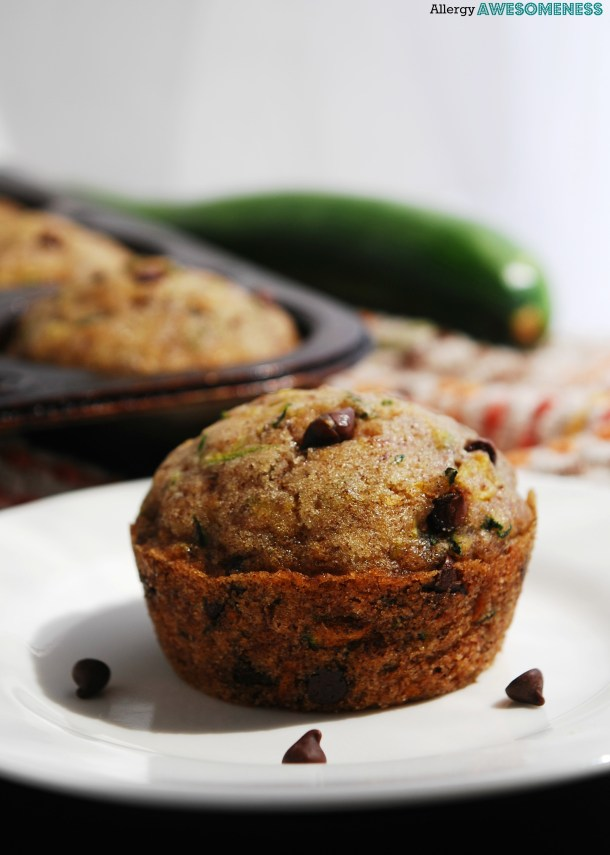 Egg-free Chocolate Chip Zucchini Muffins