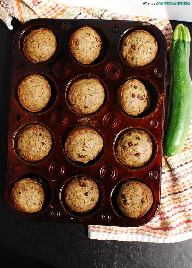 Dairy-free Chocolate Chip Zucchini Muffins