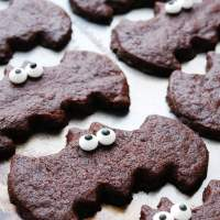 Chocolate Sugar Cookie Bats (Gluten, dairy, egg, soy, peanut & tree nut free; top-8-free; vegan)