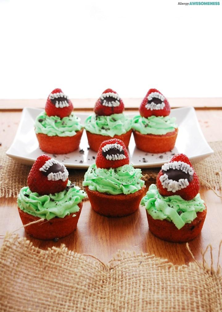 Dairy-free Halloween cupcakes