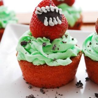 Venus Flytrap Halloween Cupcakes