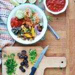 30 minute salsa chicken sheet pan dinner