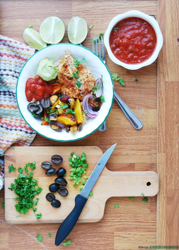 Allergy friendly 30 minute salsa chicken sheet pan dinner gluten the thing that inspired me for this dish was shish kabobs it was summer time when i started tweaking this recipe and i just love shish kabobs forumfinder Image collections