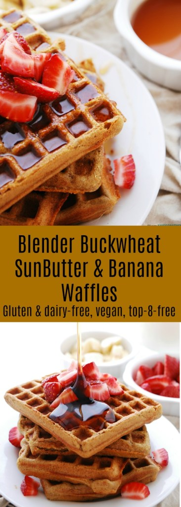 Blender Buckwheat SunButter & Banana Waffles Recipe by AllergyAwesomeness