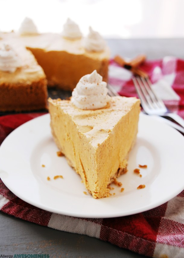 Pumpkin pie for food allergies