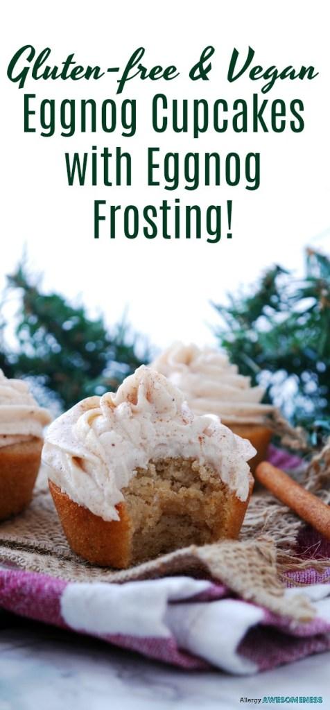gluten-free and vegan eggnog cupcakes with eggnog frosting recipe