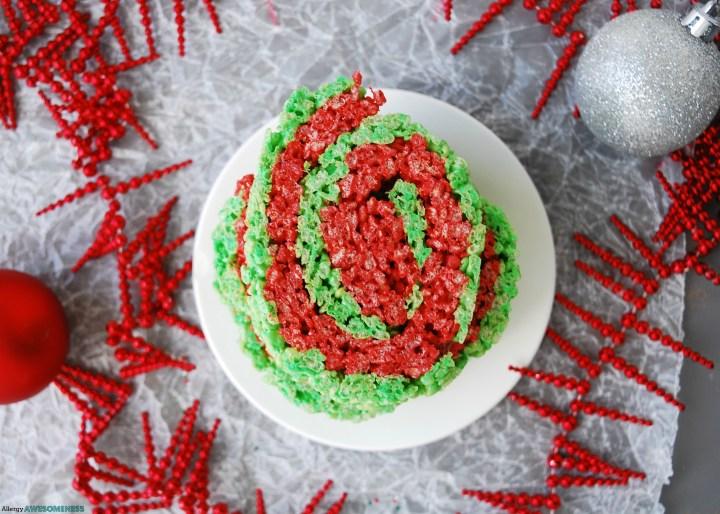 gluten-free Christmas rice krispies