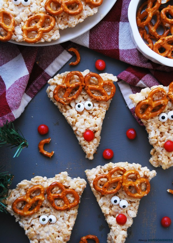how to make gluten-free reindeer rice krispies