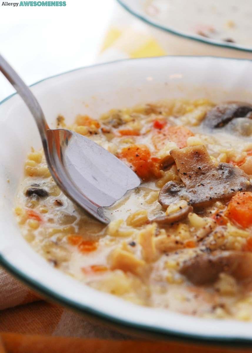 Gluten & Dairy-free Instant Pot Chicken, Mushroom & Wild Rice Soup