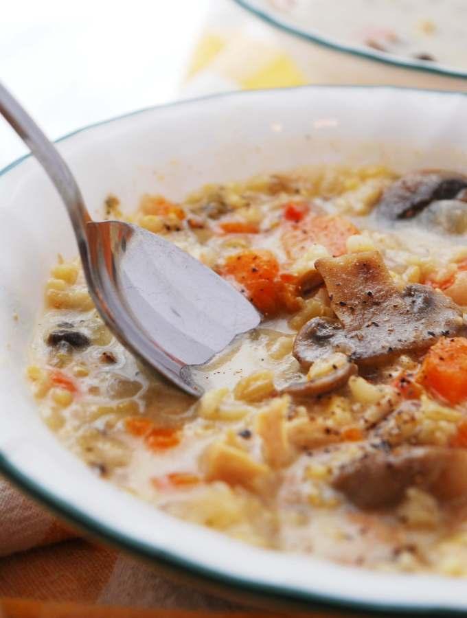 best instant pot chicken & wild rice soup recipe