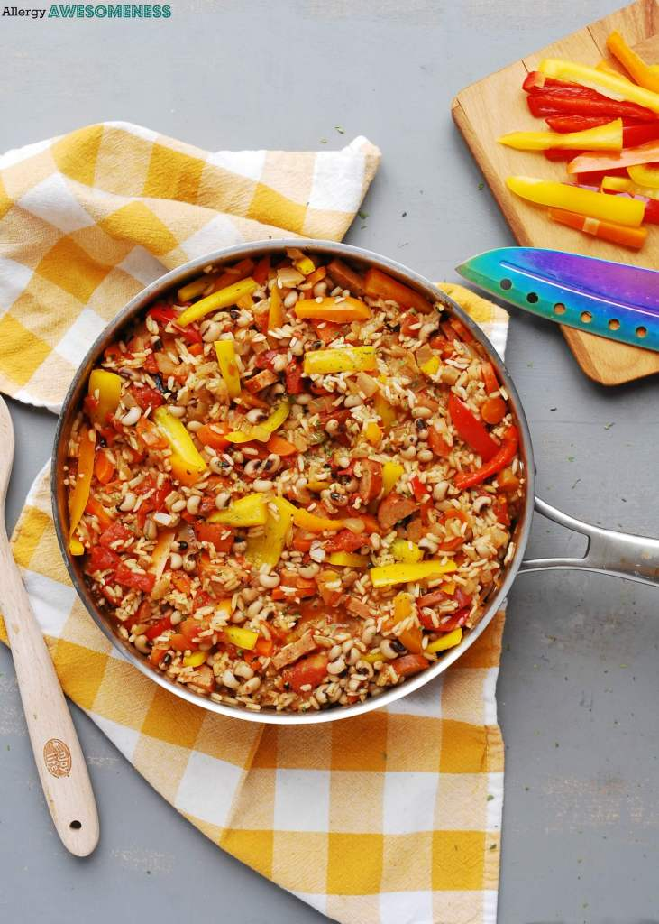 Allergy friendly 30 minute skillet jambalaya allergy awesomeness a one skillet meal that has everything you need meat beans rice and plenty of spice a homemade spice blend so no worrying if theres wheat as a forumfinder Gallery