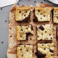 Gluten-free Vegan Chocolate Chip Cookie Brownies (AKA Brookies)