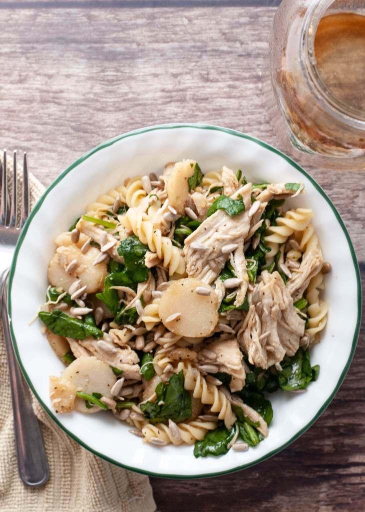 gluten-free-asian-spinach-pasta-salad
