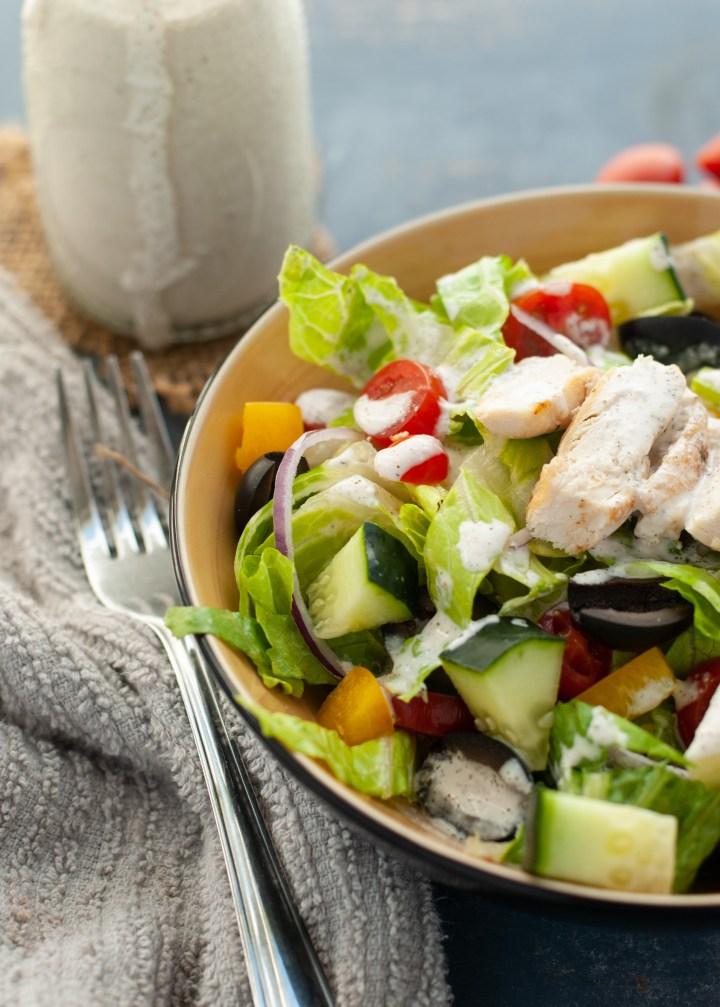 vegan-greek-salad-with-tzatziki-sauce