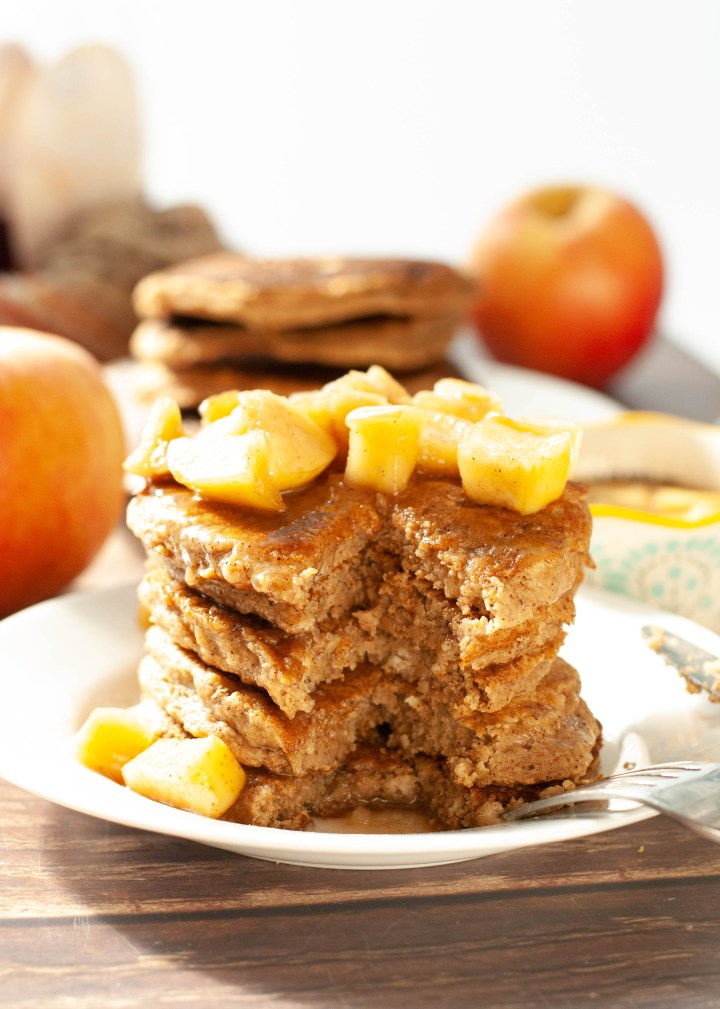 applesauce-pancakes-with-sauteed-apple-syrup-topping
