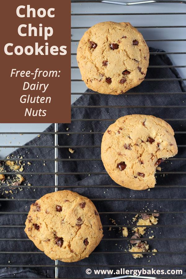 Easy Choc Chip Cookies | Dairy-free & Gluten-free & Nut-free