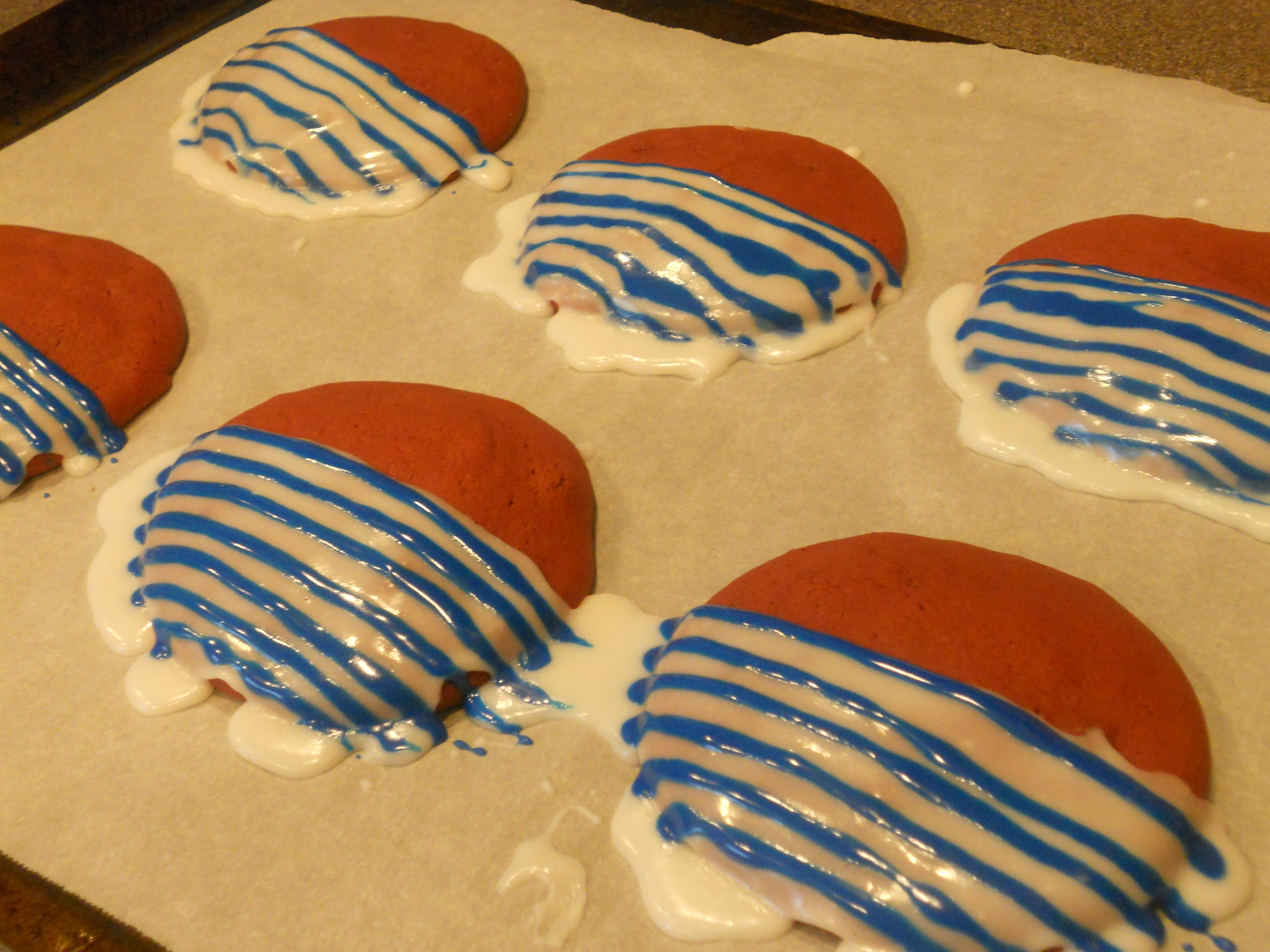 Allergy-friendly Red Velvet Iced Cookies to celebrate the 4th of July