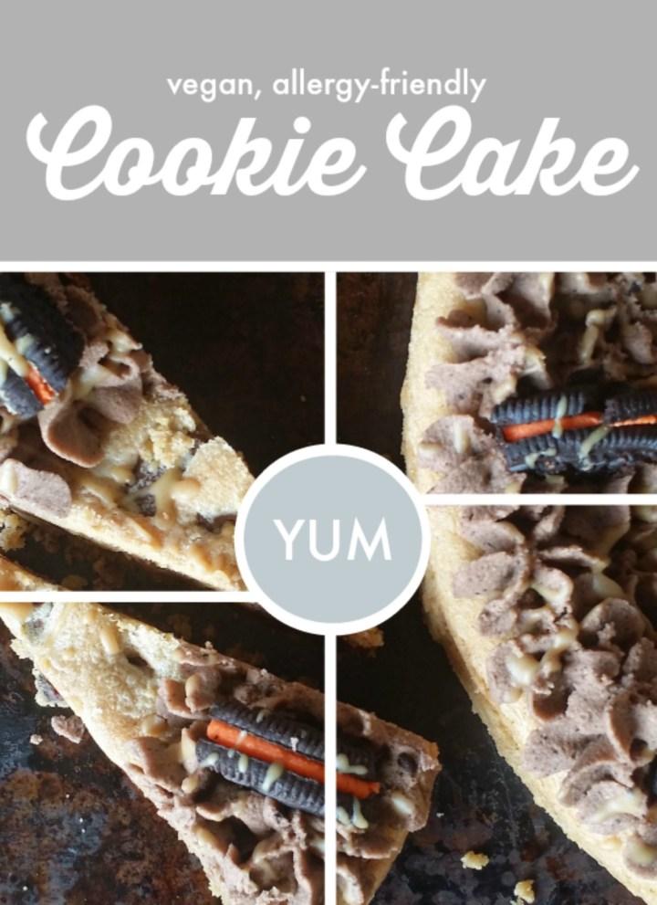 Cookie Cake {vegan, gf option}