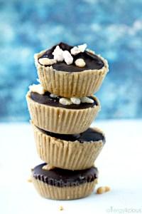 Easy, no-bake, Crunchy Chocolate SunButter Cups