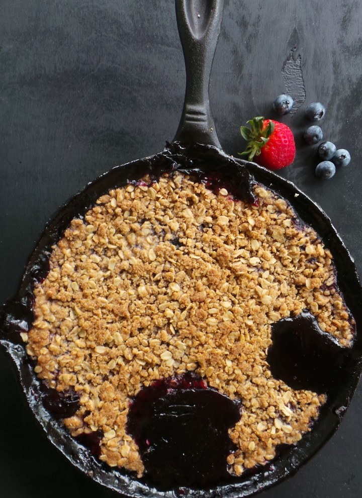 Berry Mint Skillet Pie